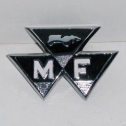MF 35 Crome Bonnet Badge
